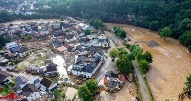 وقوع سیل بیسابقه در غرب اروپا با 90 کشته و ۱۳۰۰ مفقود