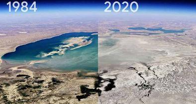 نمایش 37 سال فاجعه دریاچه ارومیه در 13 ثانیه