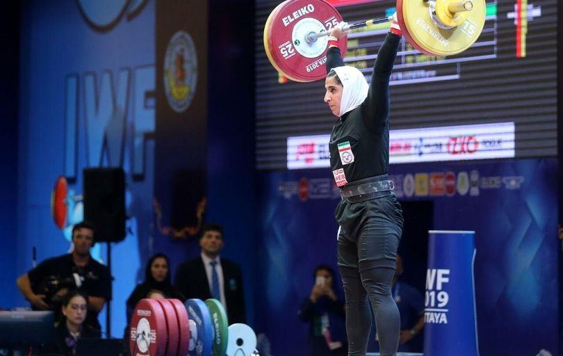 الهام حسینی، رکورد وزنهبرداری را شکست