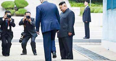 اولین ورود یک رئیسجمهور آمریکا به خاک کره شمالی