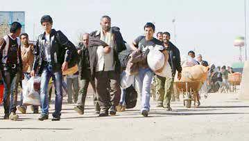 سیل حرکت پناهجویان آواره افغان به سمت ایران