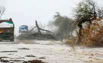 طوفان، سواحل غربی هند را در هم کوبید