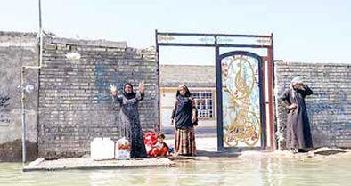 خانه مردم  اهواز میزبان مخلوط فاضلاب و باران