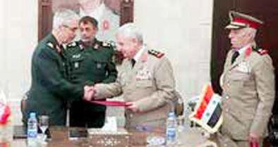 امضای توافقنامه گسترش همکاریهای نظامی ایران و سوریه