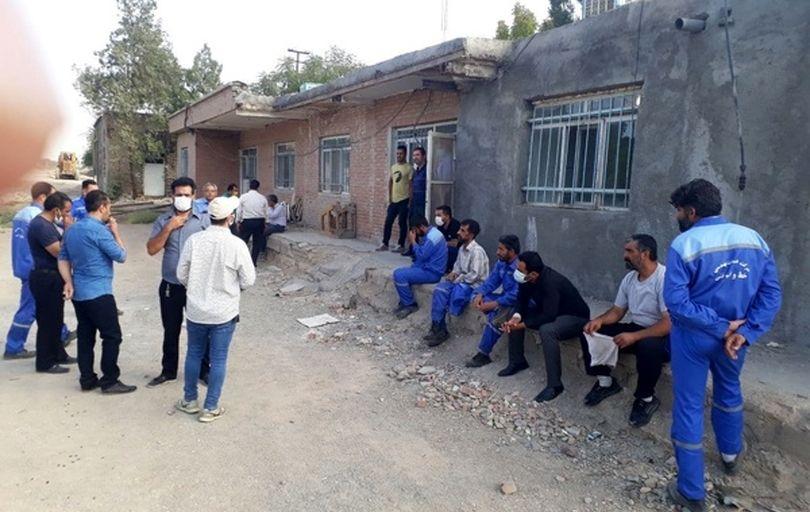 اعتراض کارگران ابنیه فنی پیشوای ورامین به معوقات مزدی