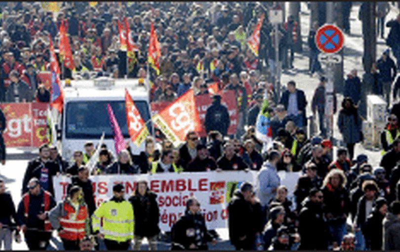 اتحادیههای کاری فرانسه هم وارد کارزار شدند