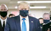 ترامپ هم بالاخره ماسک زد!