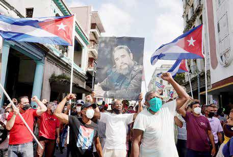 هاوانا، صحنه مطالبهگری از سوسیالیستها