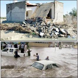 ۴۰۰ روستا  در محاصره سیلاب، سرما و گرسنگی