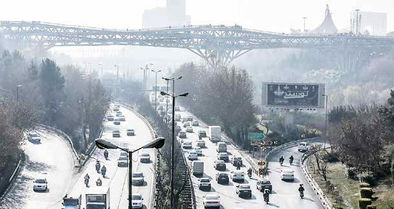 تهران در اغمای وارونگی